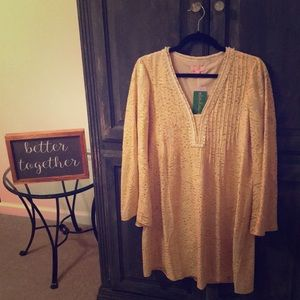 ❤️ NWT Lilly Pulitzer ❤️ gold silk metallic dress